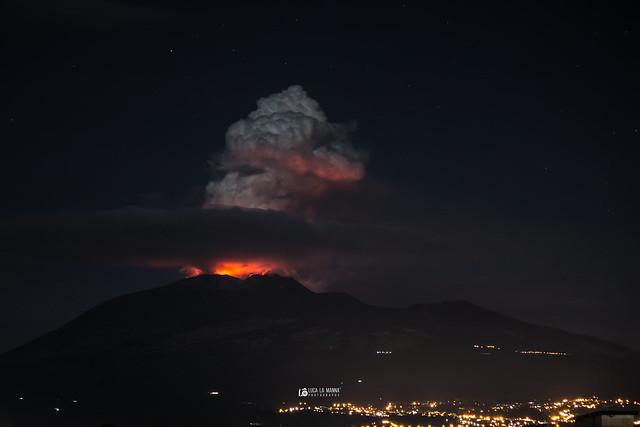Foto Eruzione etna vulcano Luca La Manna