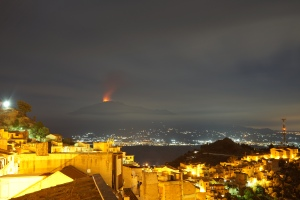 Foto eruzione Etna da Centuripe