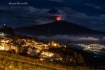 Foto eruzione Etna da Cesarò
