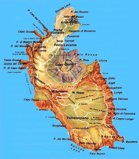 Pianta Vulcano isola Eolie
